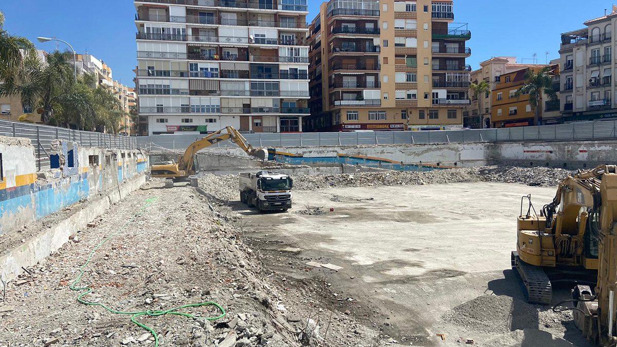Retirada de los últimos escombros del antiguo Mercado de Almuñécar