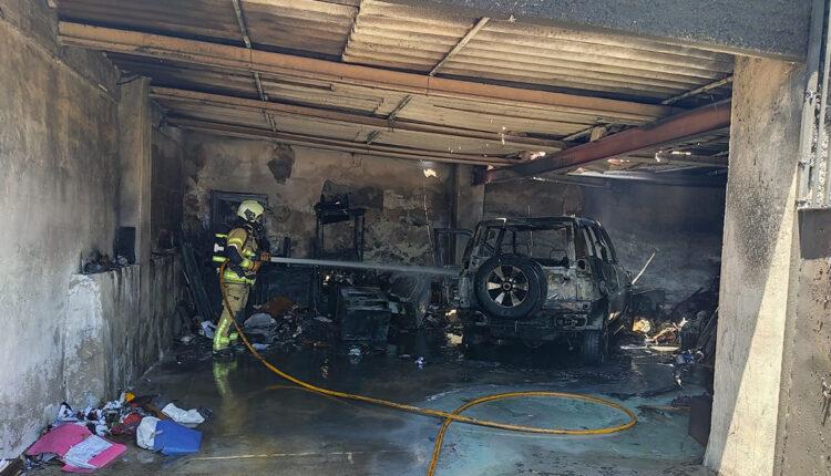 Incendio en garaje de Torrecuevas.